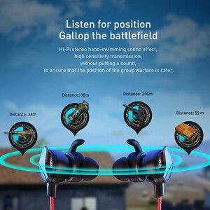 Image 4 - Baseus Gaming Koptelefoon Voor Pubg Controller GAMO 15 3D Stereo Oortelefoon Voor Mobiele Pubg Gamer Met Afneembare Hd Mic