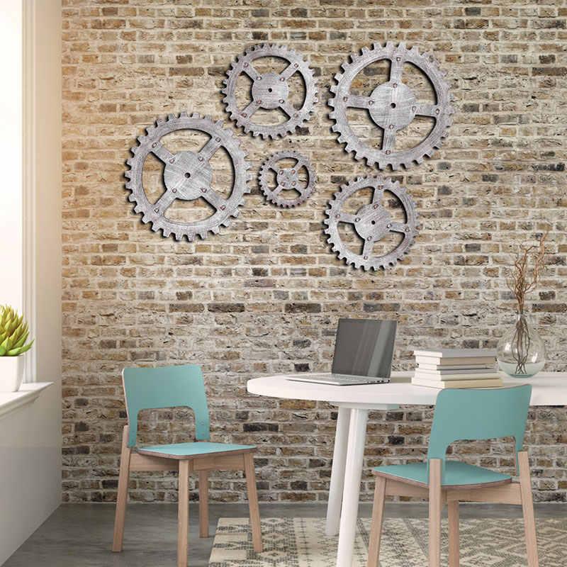 תעשייתי רוח הילוך קישוט קיר קישוט קישוטי שטיחי קיר ישן בר קיר קישוט