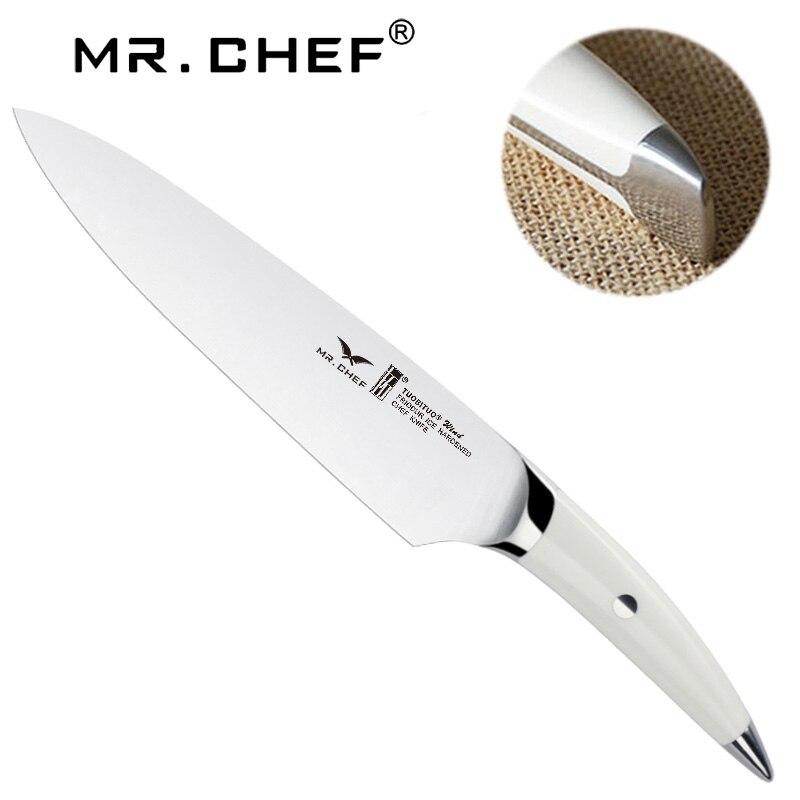 Profesionální 8-palcový kuchařský nůž německá nerezová ocel X50 vysoce kvalitní mražené maso řezačka ostří nože kuchyňské nože ABS rukojeť