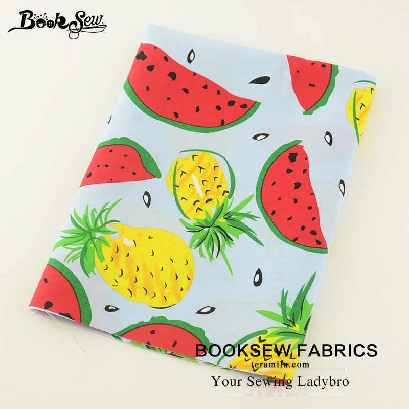 """Booksew 100% хлопок поплин FabricSoft лоскутное Лето фруктовый узор домашний текстиль ткани Tecido для рубашка костюмы аппликация """"Цветы"""" см"""