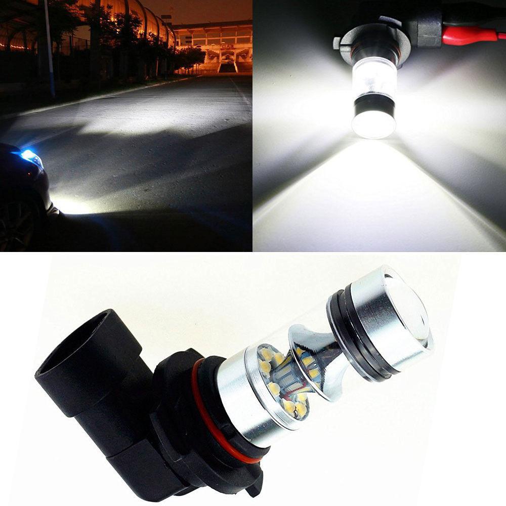 2x9006 HB4 P22D 8000 K 6000 K 100 W LED 20-SMD Cree puce projecteur voiture brouillard conduite DRL ampoules Blanc Blanc Lampada 12 V 24 V