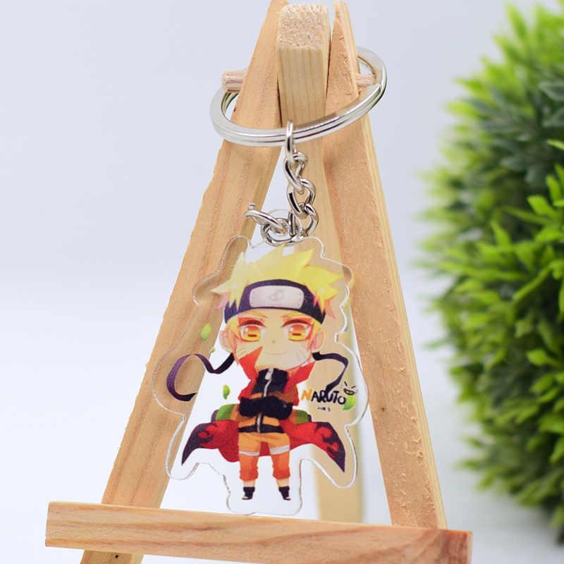 Брелок с символикой Наруто милый акриловый брелок с фигурками из мультфильмов аниме аксессуары