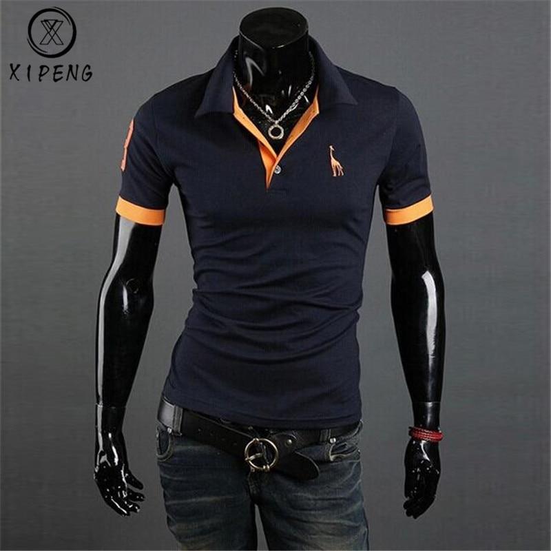 Dropshipping Roupas de Marca Nova Camisa Polo Dos Homens Homens de Negócios & Sólidos Casual Masculino Camisa Pólo de Manga Curta Camisa Pólo Respirável