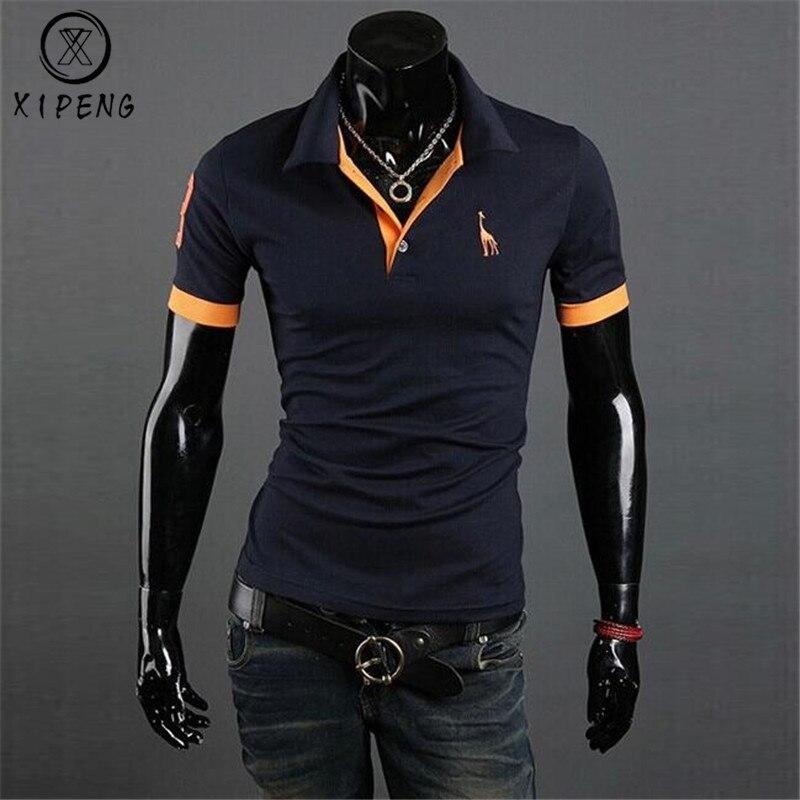Dropshipping roupas de marca nova camisa polo masculina negócios & casual sólido masculino camisa polo manga curta respirável camisa polo