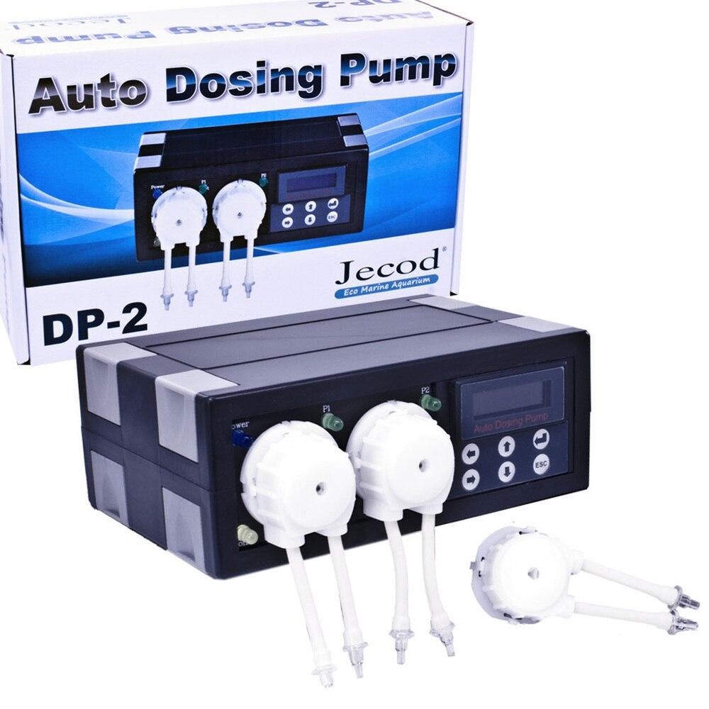 JEBAO JECOD DP-2 12 V Programmable pompe de dosage automatique pour Aquarium marin récif réservoir de poissons doseur automatique 2 canaux pompe péristaltique