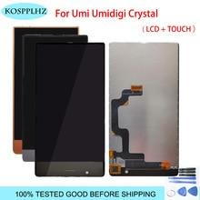 5.5 inç Umidigi umi kristal LCD ekran + dokunmatik ekran Digitizer LCD ekran cam Panel meclisi + araçları