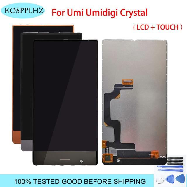 Umidigi umi 크리스탈 LCD 디스플레이 + 터치 스크린 디지타이저 LCD 스크린 유리 패널 어셈블리 + 도구 용 5.5 인치