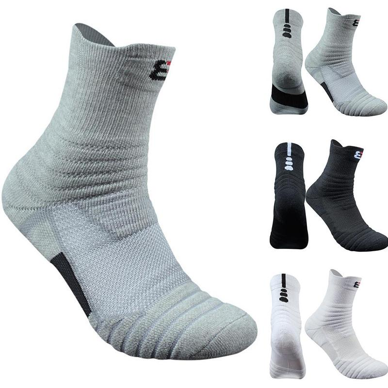 1 Pair Tennis Sport Socks Basketball Socks Man Long Thickening Towel Bottom Cotton Outdoors Run Badminton Socks