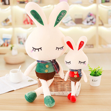 hot deal buy lovely best-selling sale large stripe stuffed & plush animals bunny doll plush toy rabbit children and girls holiday gift sale
