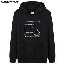 Simple & Neat style man must have hoodie & sweatshirts fleece Programmer Code geek mens brand clothing warm hoodies fashion tops