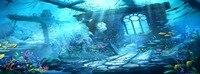 7,25X2,7 пользовательские винил фотографии фонов подводный новорожденных детей фото фон для фотостудии