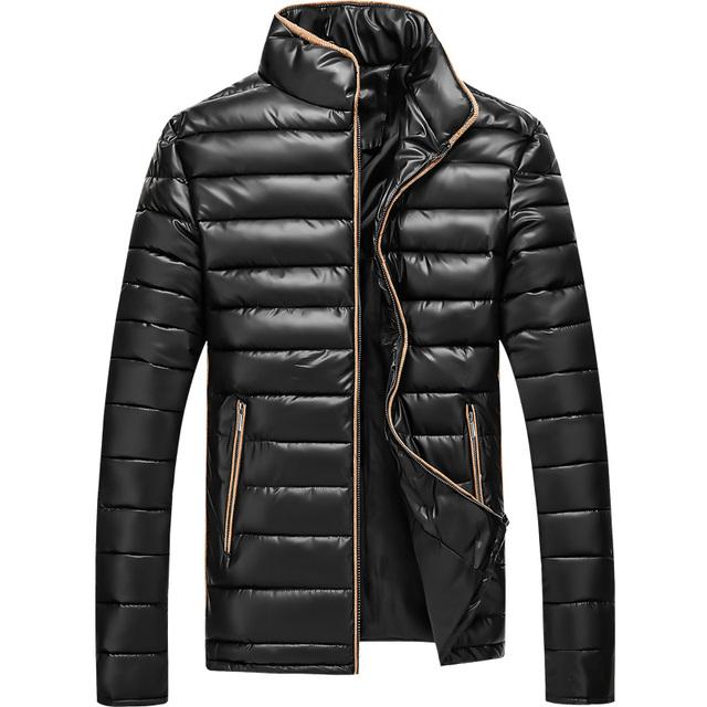 2016 Homens Inverno Jaqueta de Algodão Roupas de Moda de Nova Marca Ultra light hombre slim grosso quente dress 4 cores casacos além disso 4xl