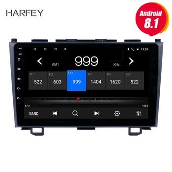 Harfey 9 inch Android 8.1 for 2006 2007 2008-2011 Honda CRV HD Touchscreen Radio GPS Navigation Bluetooth USB WIFI OBD2 Rearview