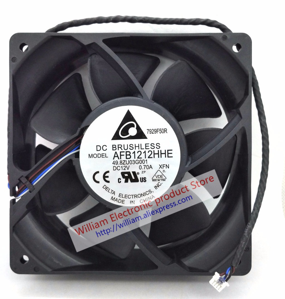 New Original Detal AFB1212HHE 49.8ZU03G001 F DC12V 0.70A 120*120*38MM 12CM Projector Cooling Fan new original bp31 00052a b6025l12d1 three wire projector fan