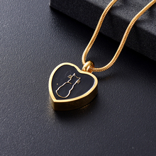 KSJ8253 My Loving Cat Rest on My Heart Free Engraving Pet Urn Necklace Funeral Casket Cremation Locket Keepsake Jewelry michael capuzzo cat caught my heart