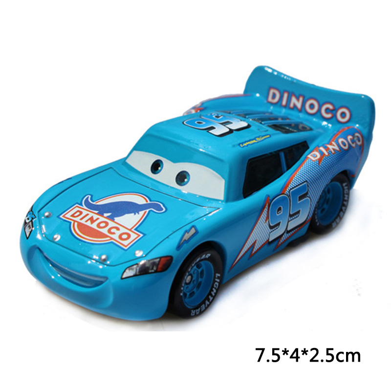 Disney Pixar Cars 2 3 Lightning McQueen Jackson Storm Doc Hudson Mater 1:55 Diecast Metal Alloy Model Car Birthday Gift Boy Toys