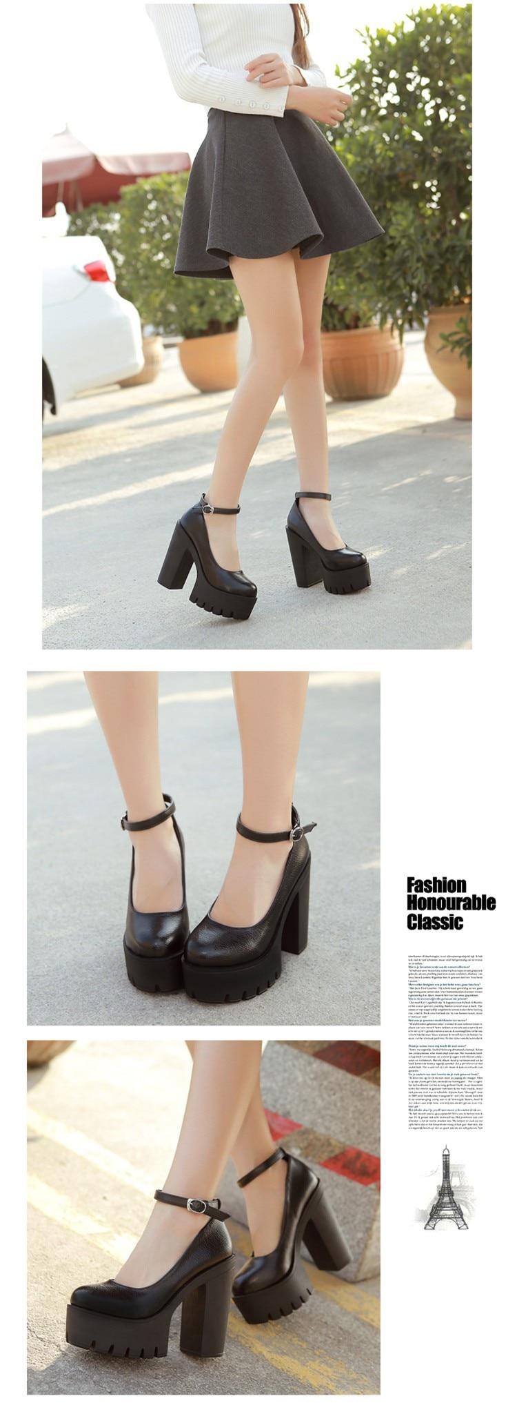 Gdgydh γυναικεία παπούτσια με ενισχυμένο τακούνι 35 με 42 msow