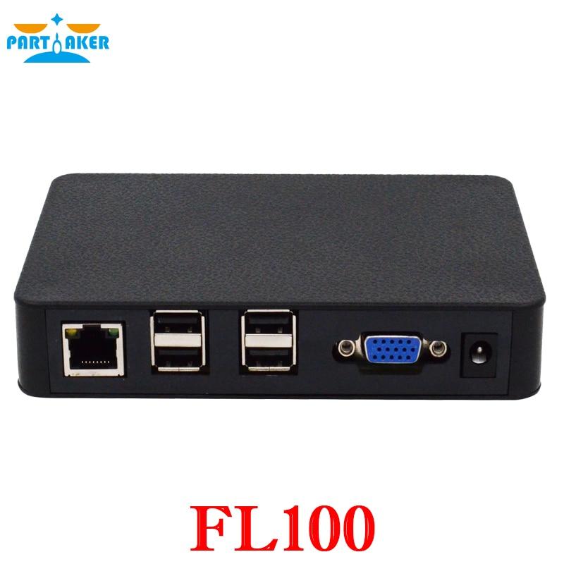 Partaker Linux Thin Client Network Terminal Cloud Computer Mini PC Station FL100 All Winner A20 512MB RAM Linux 3.0 RDP 7.0