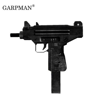 UZI Submachine Gun Pistol Paper Model Weapon Firearms 3D Stereo Hand-made Drawings Military Paper Assembly Toy