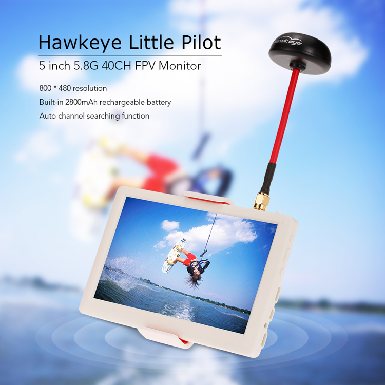 Hawkeye Little Pilot 5inch HDMI HD Monitor w/ built-in 5.8G 40CH Receiver Mushroom Antenna / Battery for FPV Multicopter entity набор гель лаков летний вечер