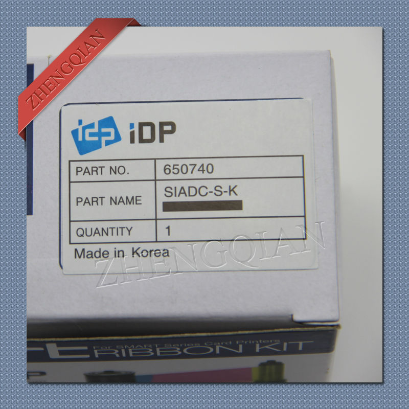 original cheap IDP smart 650740 SIADC-P-K black printer ribbon for use with the smart card printers