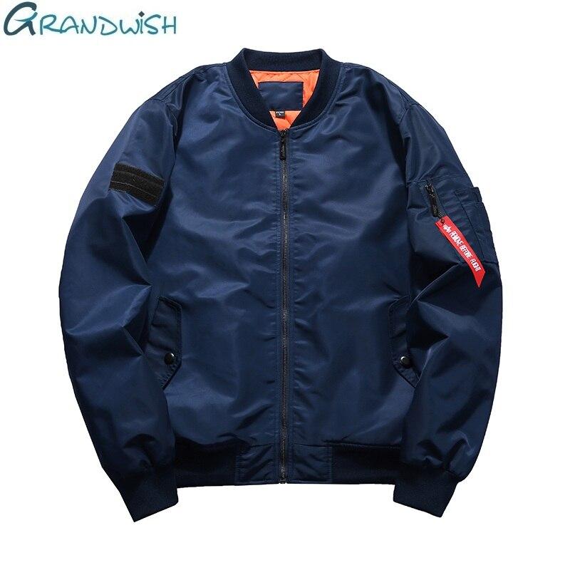 db23b2a61 US $21.44 35% OFF|Grandwish US Size S 5XL Men Thick Bomber Jacket Men Hip  Pop Winter Mens Flight Jackets Big Size Army Jacket Large Size, DA735-in ...