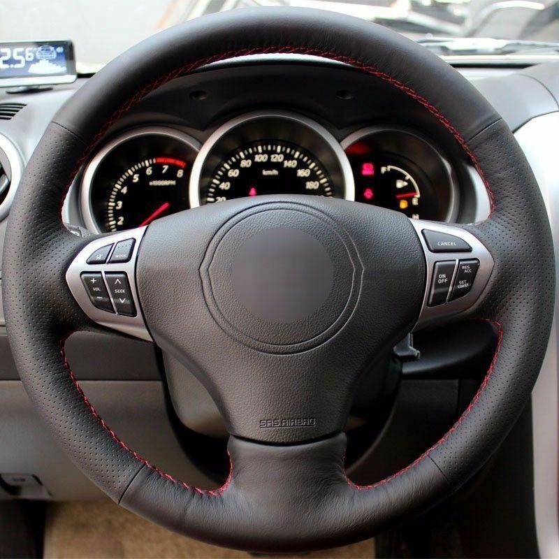 Couvre-volant en cuir à point à la main pour Suzuki Grand Vitara 2007-2013