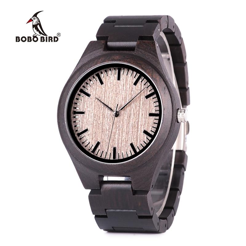 BOBO BIRD Women Quartz Wristwatch Retro Ebony Wood Watches High Quality Brand Designer C-dO08BOBO BIRD Women Quartz Wristwatch Retro Ebony Wood Watches High Quality Brand Designer C-dO08
