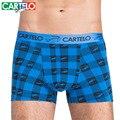 Cartelo marca dos homens cool fashion flat-pé calças na cintura de algodão dos homens underwear masculino de algodão underwear u projeto convexo