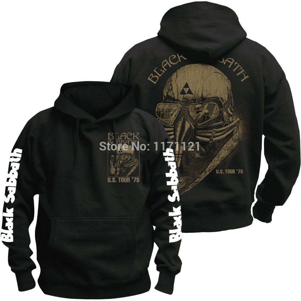 Bloodhoof HOT NEW Black Sabbath World Tour heavy metal CLASSIC METAL black cotton hoodie Asian Size