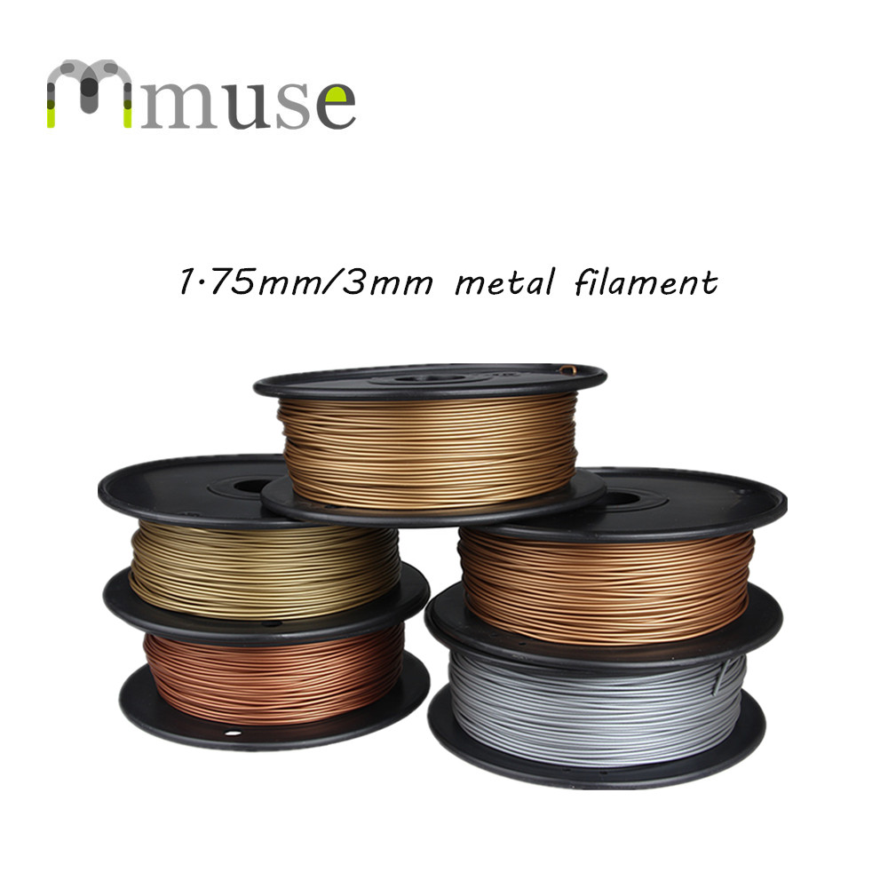 Brand New 1.75mm 3mm 0.5kg/spool 30-40% Metal 3D Printing Filament For FDM 3D Printer женская юбка brand new 2015 strawberry leopard 3d f e43