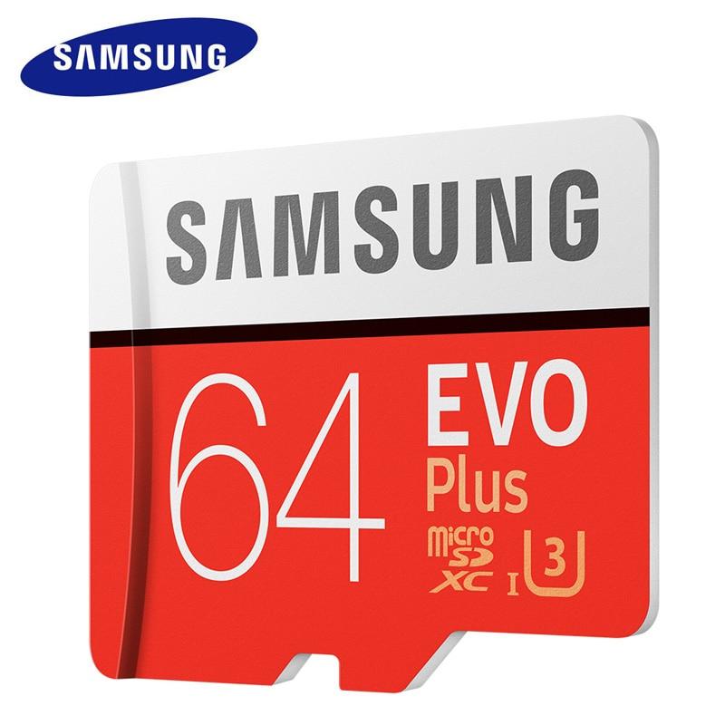 SAMSUNG Micro SD Carte Mémoire 64 GB EVO Plus Class10 Étanche TFFlash cartao de Memoria Mini SD Carte SDXC UHS-I Pour Mobile Téléphone
