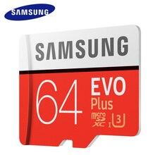 Samsung Micro SD карты памяти 64 ГБ EVO Plus Class10 Водонепроницаемый TF Flash картао де memoria mini sd карты SDXC UHS-I для смартфонов