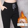 2017 зима стиль Пейдж Высокая эластичность Досуг марка Женщины гарем Брюки Высокое качество брюки S-3XL размер