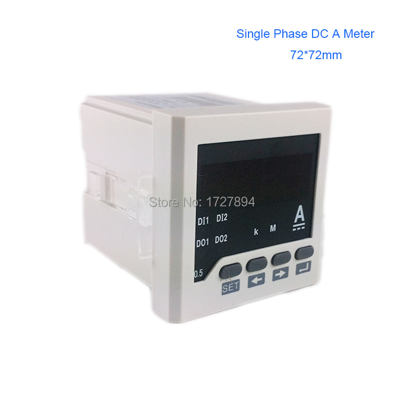Panel mounted 72*72mm Single Phase DC AMP Meter/amperemeter,led Digital DC ampere meter, 0-5A current meters with 4-20mA output jkw5c 6 reactive power compensation controller for power factor capacitor 6steps 380v cos power