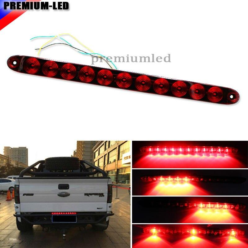 Multi Function Truck Tailgate Red Led Running Light Bar