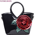 FLYING BIRDS! women handbag elegant women leather handbags retro shoulder bags bolsas famous brands flower women's bag LM3027fb