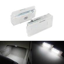 ANGRONG 2x beyaz LED bagaj bagaj havasız ortam kabini ışık lambaları İç işık için Peugeot 206 207 306 307 3008 406 407 5008 607 806
