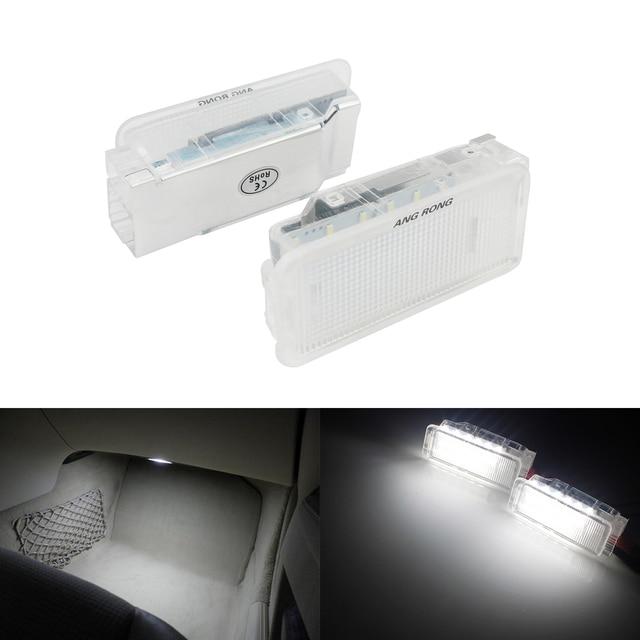 Angrong 2x白色ledトランクグローブボックスライトランプ室内灯プジョー 206 207 306 307 3008 406 407 5008 607 806