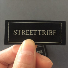 Customized 2.4*5.8cm 50D high density clothing woven labels