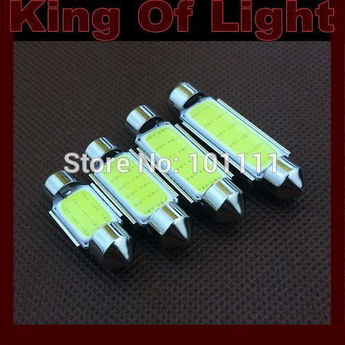 2x High quality car led stying lighting C5W Festoon COB 12 chips 39mm Free shipping