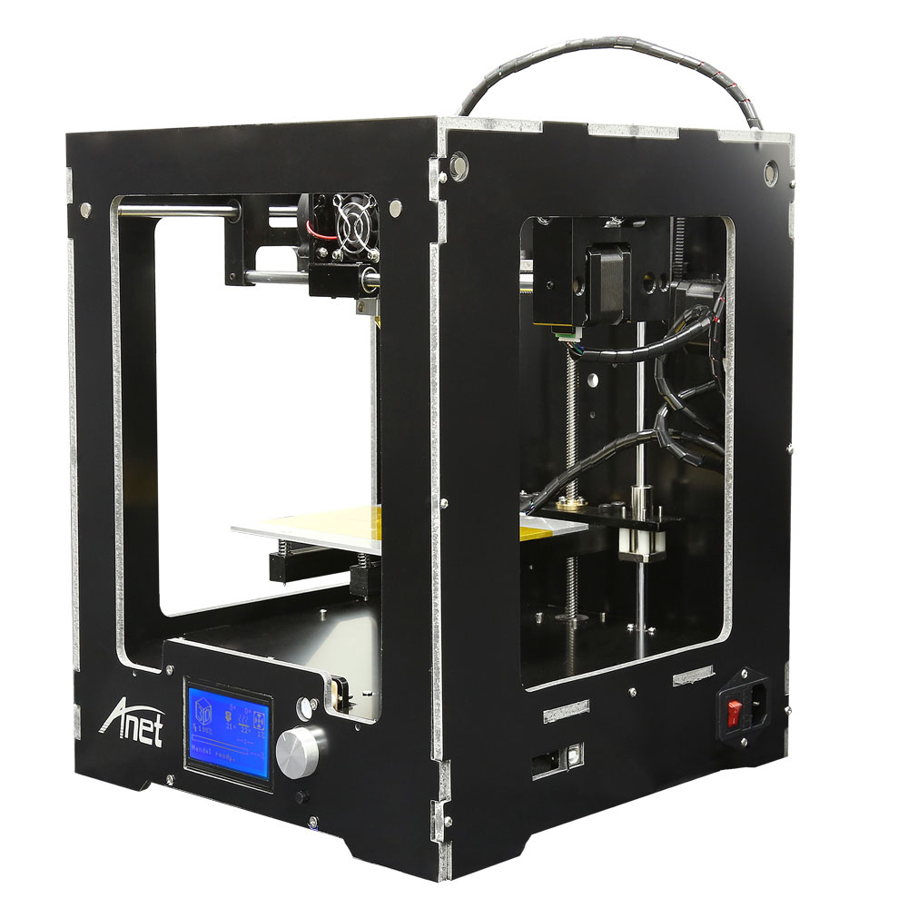 High Accuracy Assembled 3D Printer Machine Anet A3S High Precision ABS/PLA Upgraded Reprap Prusa i3 DIY A8/A6 3D Printer Kit anet a6 upgraded prusa i3 3d printer easy assemble pla abs filament 16gb sd card knob lcd screen high quality cheap 3d printer