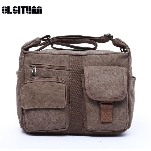 f09dc0b213 OLGITUM 2017 Hot Sale New Canvas Bag Handbag Women Oblique Satchel Bags  Shoulder Bag HB102