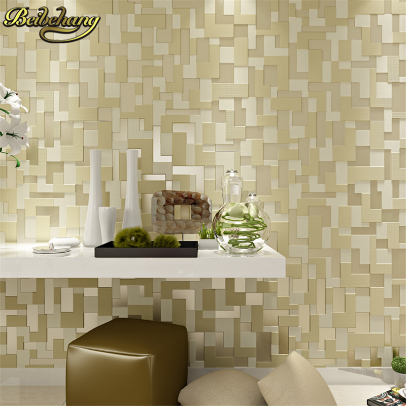 beibehang papel de parede stereoscopic video wallpaper for living room wall mosaic non-woven wall paper embossed contact paper