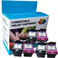 Compatible hp123 Refilled ink cartridge for hp 123 XL Deskjet 1110 2130 2132 3630 3632 3638 ENVY 4513 4520 4521 4522 Printer