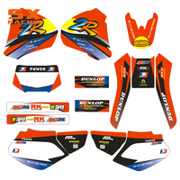 Motorcycle Decals Customize Pattern Custom Made Stickers Set For HONDA XR 250 400 XR250 XR400 98 99 00 01 02 03 04 1998 2004