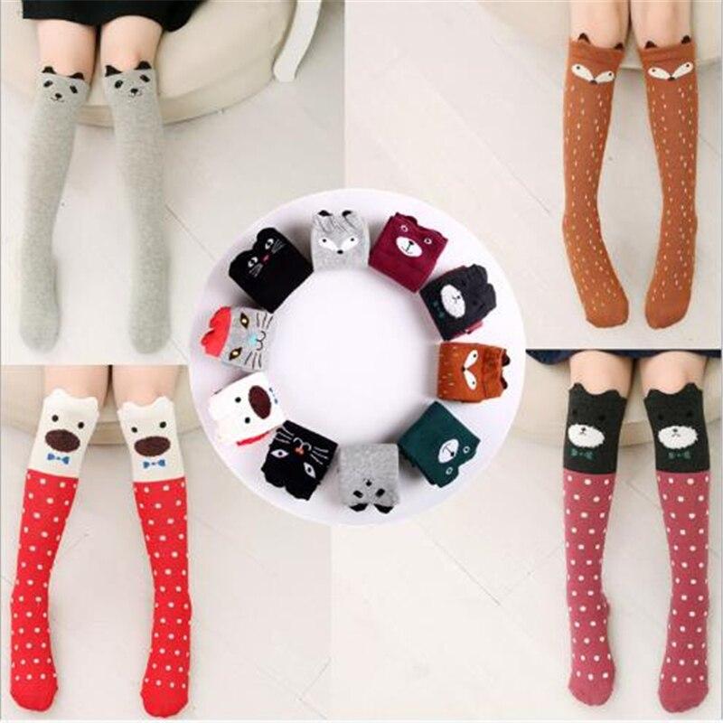 Anime New Children's Tube Socks Cotton Straight Stereo Ear Cat Cartoon Girl Over Knee Socks Children's Gift