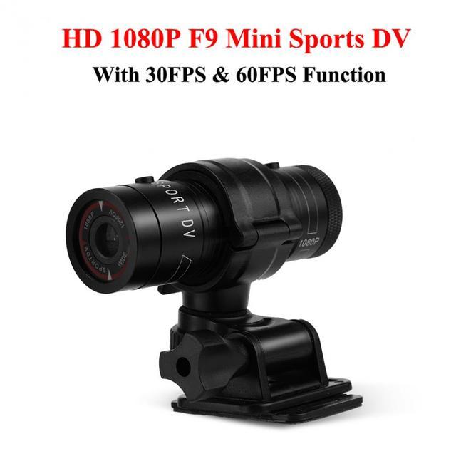 3MP F9 Full HD 1080 p Mini Câmera Filmadora Gravador de Alumínio Pequena Ação Esporte Capacete Da Bicicleta DV DVR Esporte Radical esporte Camcorder