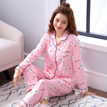 Large Size Rabbit Pajamas Set Woman Clothes For Sleep Winter Long Sleeve Home Suit Female Nightgown