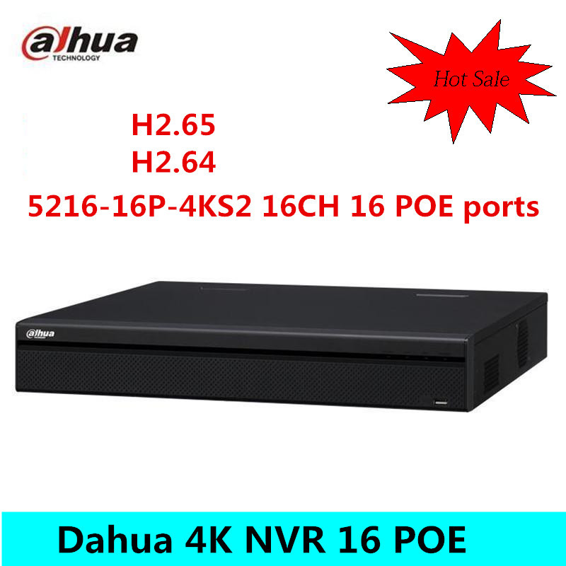Original Dahua 16 Channel 1U 16 PoE Port 4K Video Recorder H 265 Pro Network NVR